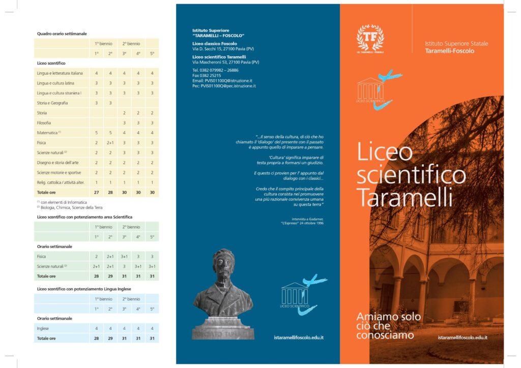 Brochure Liceo Taramelli