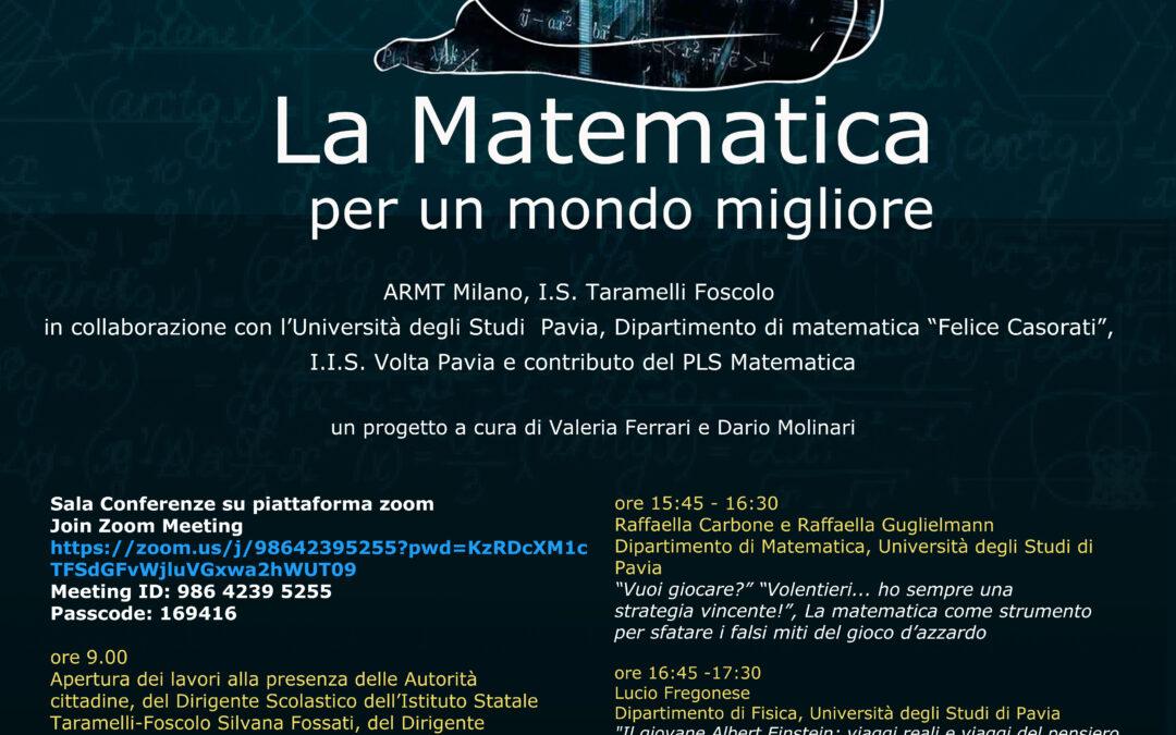 PI GRECO DAY – La Matematica per un mondo migliore – Pavia 14 marzo (3,14) 2021